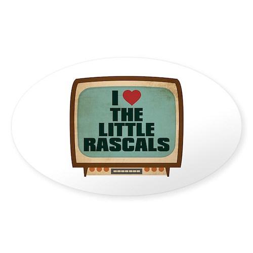 Retro I Heart The Little Rascals Oval Sticker