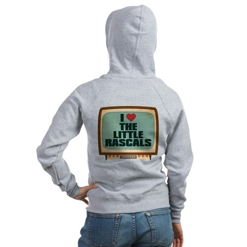 Retro I Heart The Little Rascals Women's Zip Hoodi
