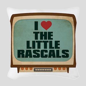Retro I Heart The Little Rascals Woven Throw Pillo