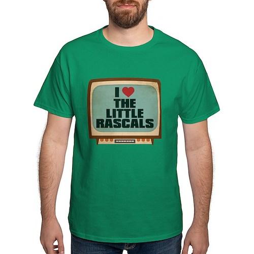 Retro I Heart The Little Rascals Dark T-Shirt