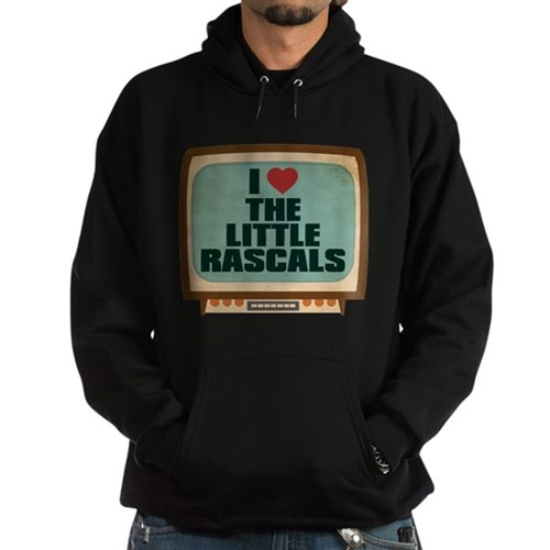 Retro I Heart The Little Rascals Dark Hoodie
