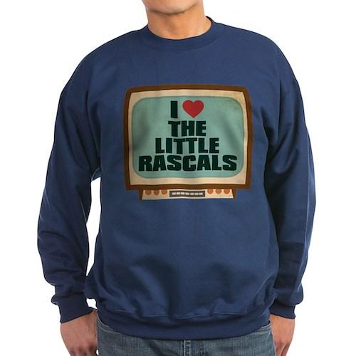 Retro I Heart The Little Rascals Dark Sweatshirt