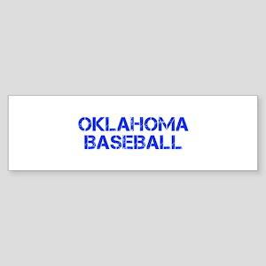 OKLAHOMA baseball-cap blue Bumper Sticker