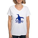 Slide Women's V-Neck T-Shirt