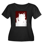 Devil Women's Plus Size Scoop Neck Dark T-Shirt