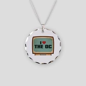 Retro I Heart The OC Necklace Circle Charm