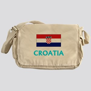 Croatia Flag Classic Blue Design Messenger Bag