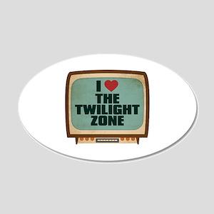 Retro I Heart The Twilight Zone 22x14 Oval Wall Pe