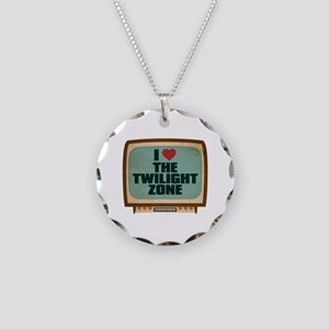 Retro I Heart The Twilight Zone Necklace Circle Ch