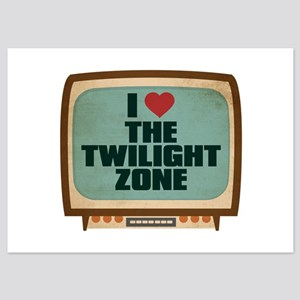 Retro I Heart The Twilight Zone 5x7 Flat Cards