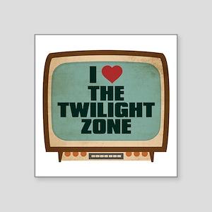"""Retro I Heart The Twilight Zone Square Sticker 3"""""""
