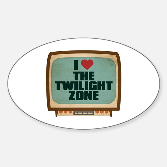 Retro I Heart The Twilight Zone Oval Decal