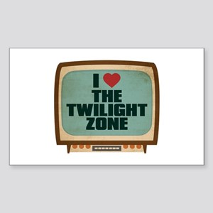 Retro I Heart The Twilight Zone Rectangle Sticker