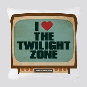 Retro I Heart The Twilight Zone Woven Throw Pillow