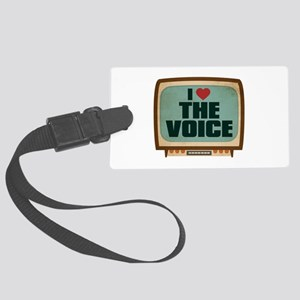 Retro I Heart The Voice Large Luggage Tag