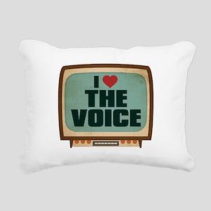 Retro I Heart The Voice Rectangular Canvas Pillow