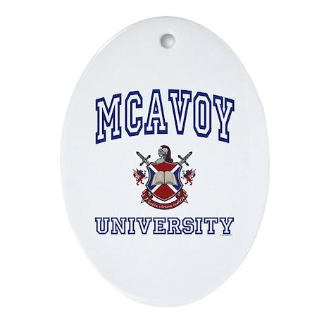 MCAVOY University Oval Ornament