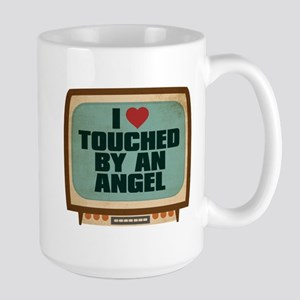 Retro I Heart Touched by an Angel Large Mug