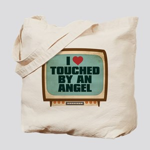 Retro I Heart Touched by an Angel Tote Bag