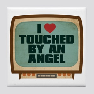 Retro I Heart Touched by an Angel Tile Coaster