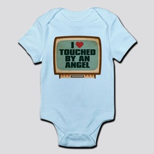 Retro I Heart Touched by an Angel Infant Bodysuit