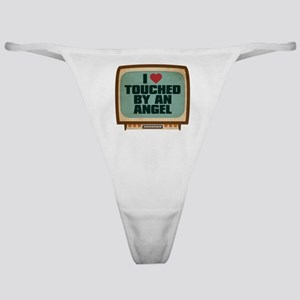 Retro I Heart Touched by an Angel Classic Thong