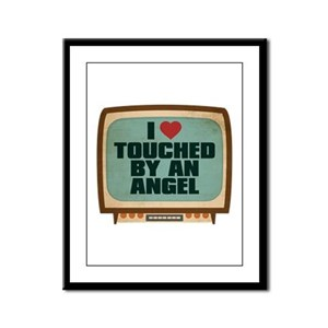 Retro I Heart Touched by an Angel Framed Panel Pri