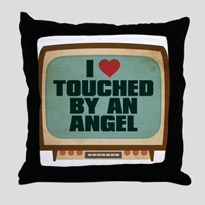 Retro I Heart Touched by an Angel Throw Pillow