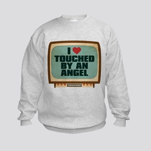Retro I Heart Touched by an Angel Kids Sweatshirt