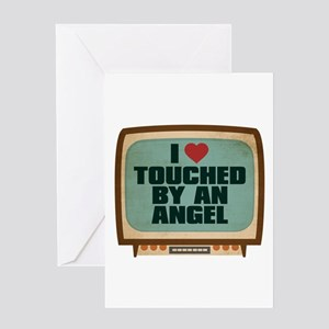 Retro I Heart Touched by an Angel Greeting Card