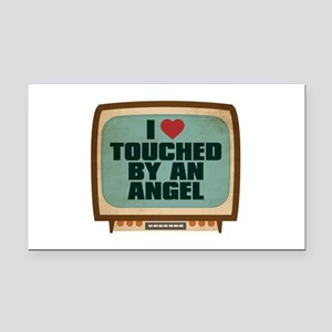Retro I Heart Touched by an Angel Rectangle Car Ma