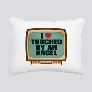 Retro I Heart Touched by an Angel Rectangular Canv