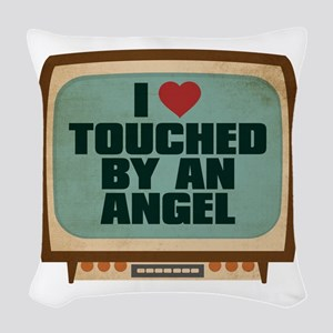 Retro I Heart Touched by an Angel Woven Throw Pill