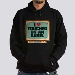 Retro I Heart Touched by an Angel Dark Hoodie