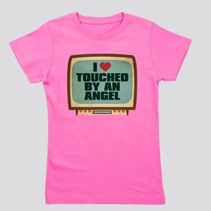 Retro I Heart Touched by an Angel Girl's Dark Tee