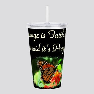 POWER OF FAITH Acrylic Double-wall Tumbler