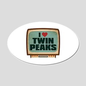 Retro I Heart Twin Peaks 22x14 Oval Wall Peel