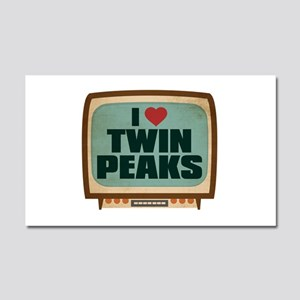 Retro I Heart Twin Peaks Car Magnet 20 x 12