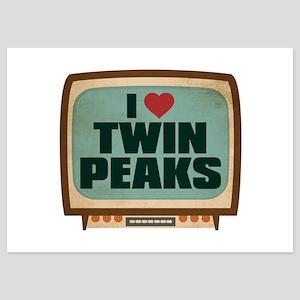 Retro I Heart Twin Peaks 5x7 Flat Cards