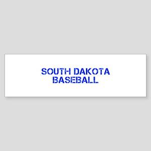 SOUTH DAKOTA baseball-cap blue Bumper Sticker