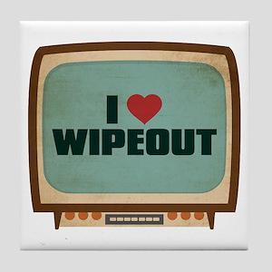 Retro I Heart Wipeout Tile Coaster
