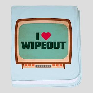 Retro I Heart Wipeout Infant Blanket