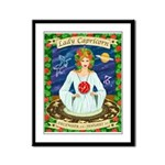 Lady Capricorn Framed Panel Print