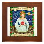 Lady Capricorn Framed Tile