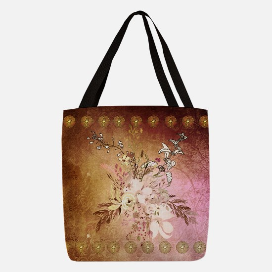 Wonderful flowers , colorful design Polyester Tote