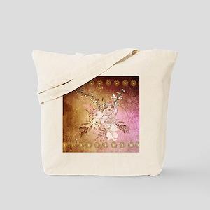 Wonderful flowers , colorful design Tote Bag