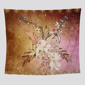 Wonderful flowers , colorful design Wall Tapestry
