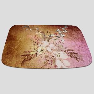 Wonderful flowers , colorful design Bathmat