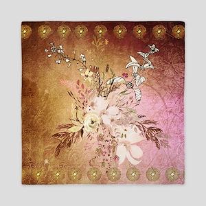 Wonderful flowers , colorful design Queen Duvet