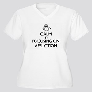 Keep Calm by focusing on Afflict Plus Size T-Shirt